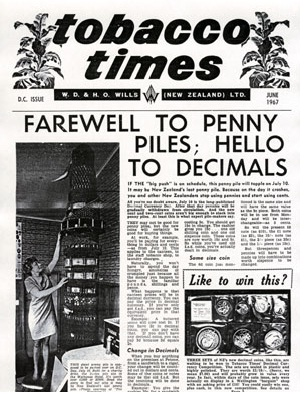 Tobacco Times W.D & H.O. Wills (New Zealand) Ltd, DC Issue, June 1967. Collection of the Petone Settlers Museum.