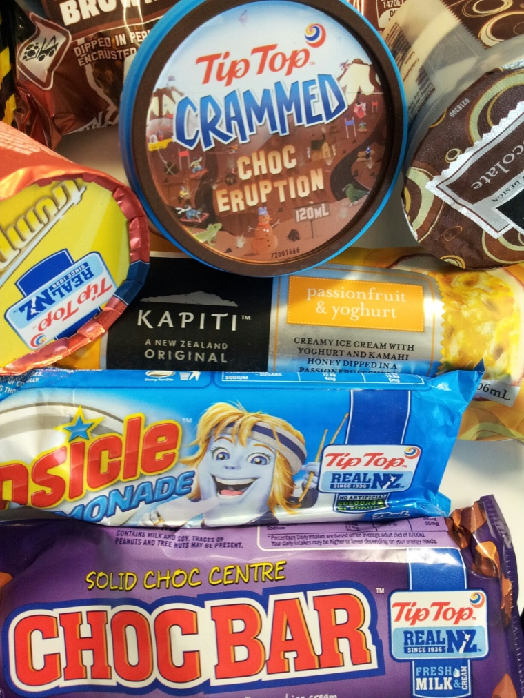 Selection of icy treats from the freezer at the Petone Settlers Museum.