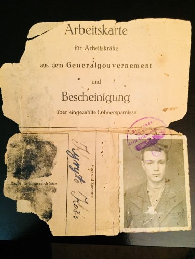 Jules blog photo Grandfather passport